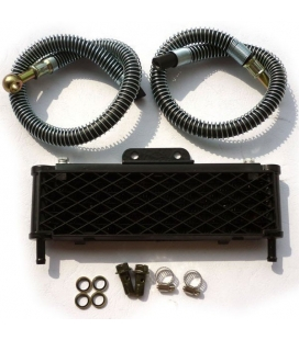 Oil radiator with sleeve