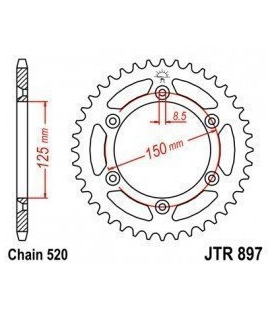 Rear sprocket ktm jt
