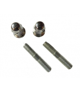 Stud bolts + exhaust nuts 6mm