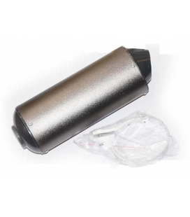Silencioso oval titanio