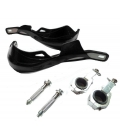 Black aluminum handlebar protect 22/28mm