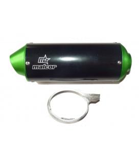 Muffler oval cnc green