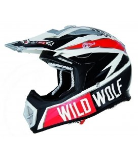 Casco cross en carbono wild wolf