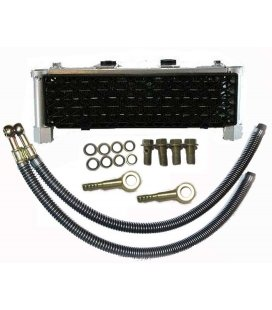Oil cooler with rubber
