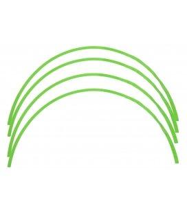Wheel sticker green fluor