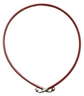 Latiguillo metalico 1100mm rojo