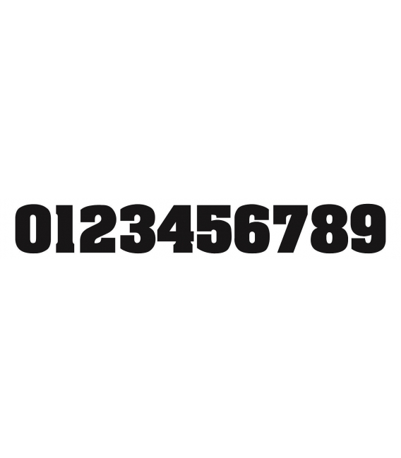 Number decorative for motorcycles