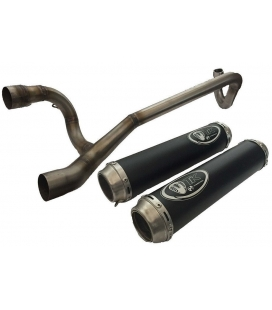 Exhaust 2 muffler for super racer