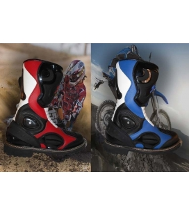 Botas de cross colores azul o roja