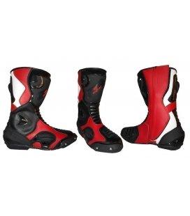 Botas de supermotard rojas