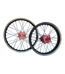 Alloy wheel cnc hubs red