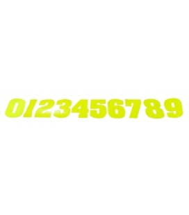 Number color yellow fluor