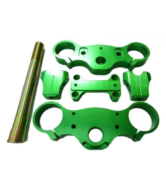 Triple clamps assy 170mm CNC GREEN
