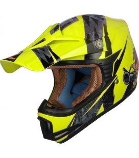Casco shiro MALCOR MX-306 fluor