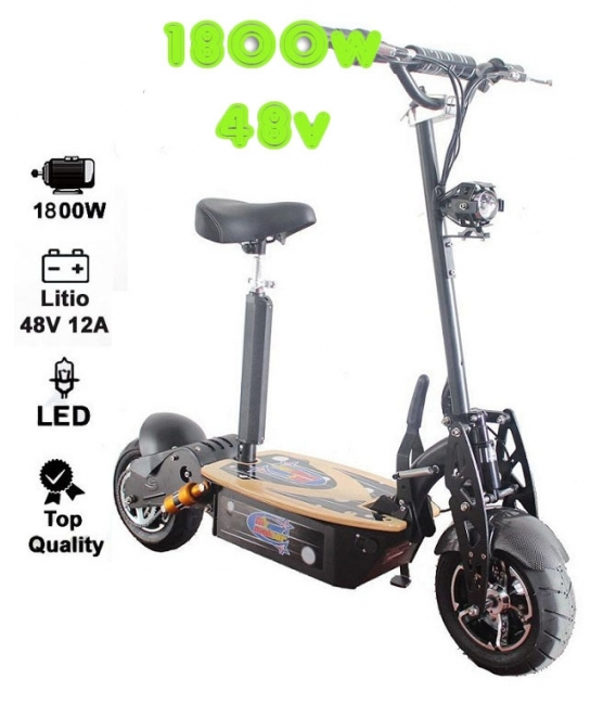 Electric skateboard 1800w