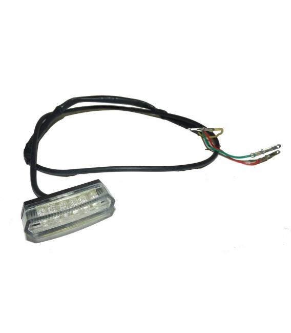 Rear led light skateboard