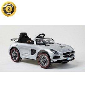 Coche electrico MERCEDES SLS deportivo plata