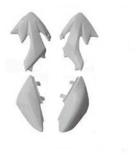 White fairing single crf50