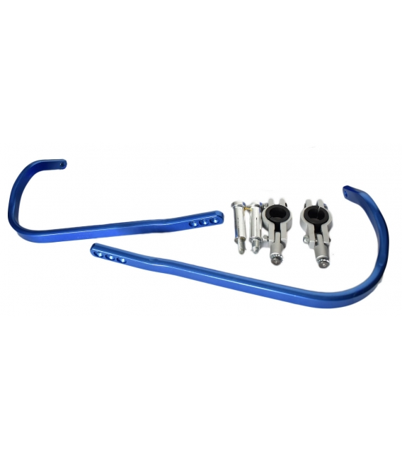 Cover racing handlebar cnc blue