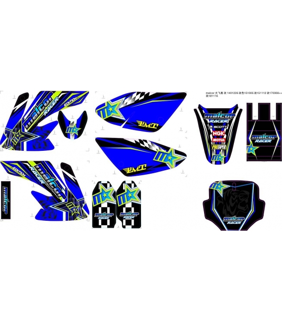 Adhesivos crf70 malcor racer