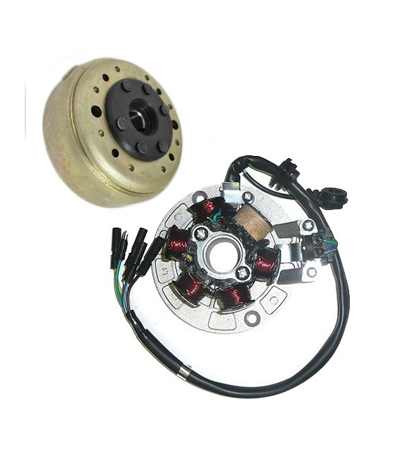 Stator with magneto for engine dirt bike