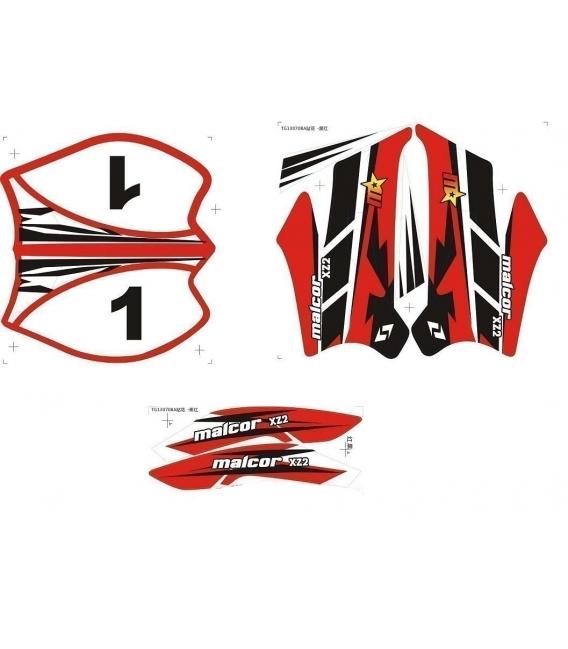 Kit pegatinas minicross 708