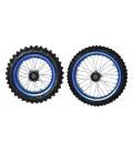 Ruedas pit bike 17-14 aro aluminio azul