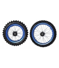 Wheels dirt bike 17-14 with alloy ring blue