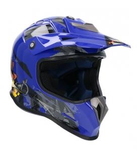Casco shiro MTR MX-306 azul
