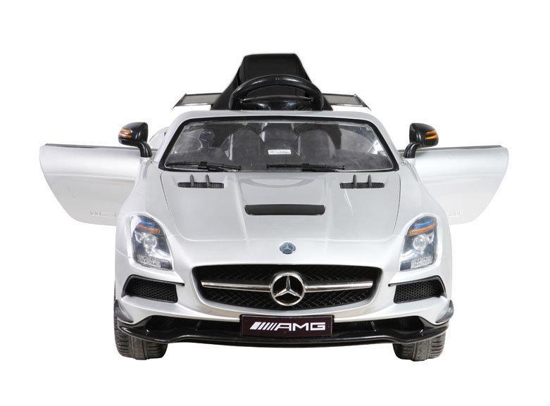 coche mercedes sls amg blanco para niños