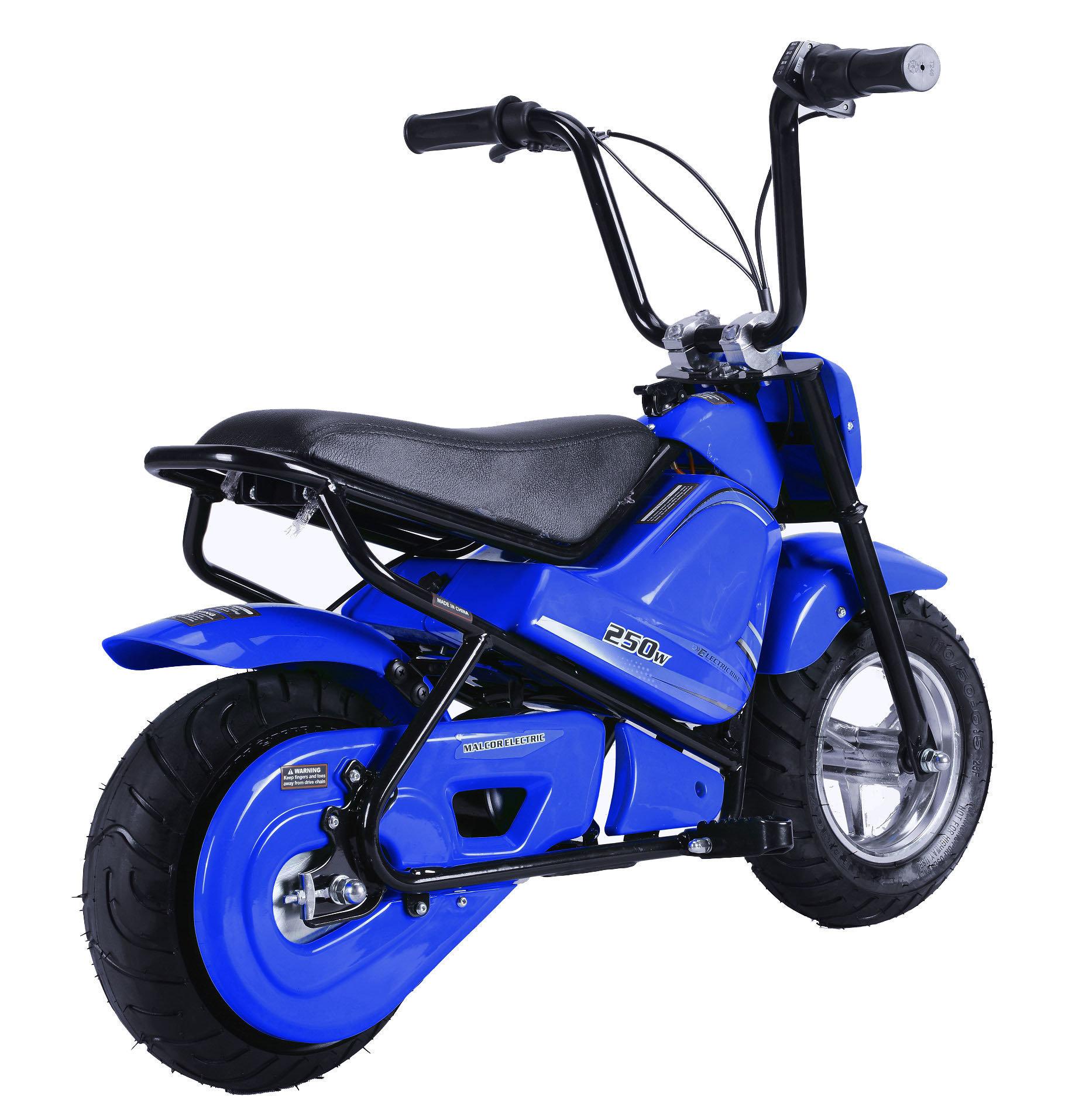 minimoto electrica niños azul