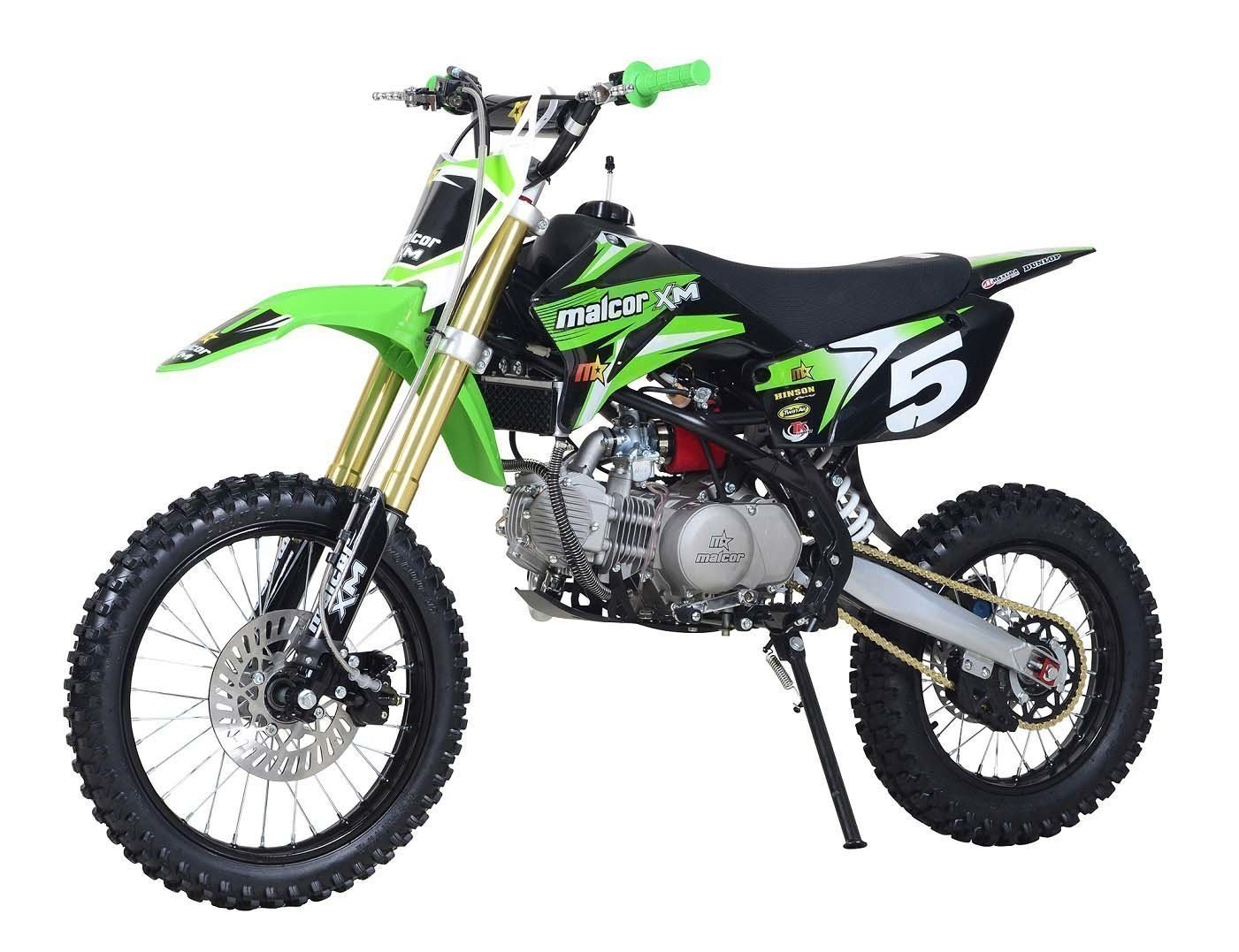 mtr malcor xm160 verde pit bike de rueda alta