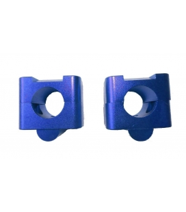 Adaptador manillar 28 cnc azul
